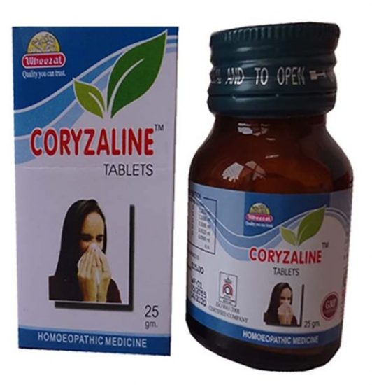Wheezal Coryzaline Tablets for Cold and Coryza Fever