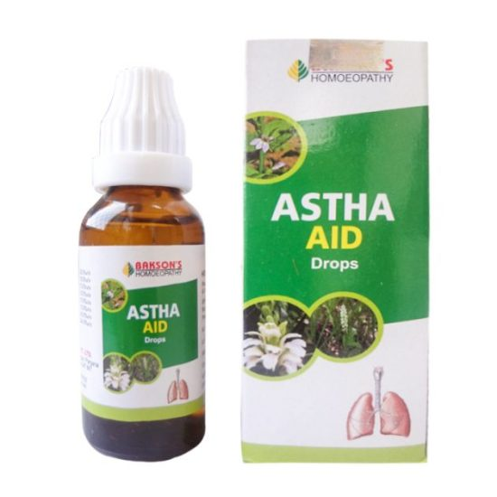 Baksons Astha Aid Drops for Breathing Problems, 30ml