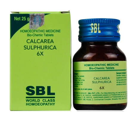 SBL Biochemic Tablet Calcarea Sulphurica for boils, pimples. 25gm