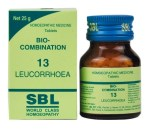 SBL Bio combination 13 (BC13) Tablets for Leucorrhoea (a whitish or yellowish discharge of mucus from the vagina.)