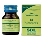 SBL Biocombination 18 (BC18) Tablets for Pyorrhoea - Treats Gum Disease