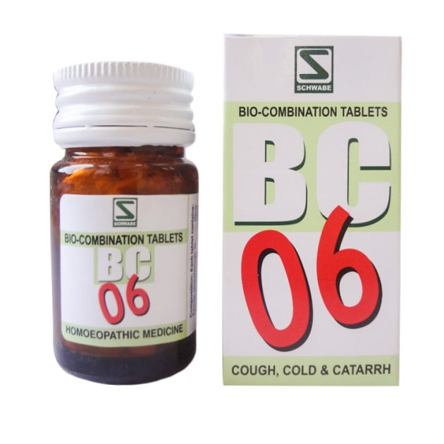 Schwabe Biocombination No 6 Tablets for Cough, Cold and