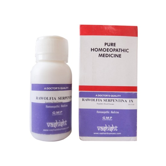 Vashisht Rawolfia Serpentine 1x Mother Tincture Tablets