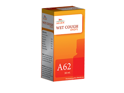 Allen A62 Wet Cough Drops, 30ml homeopathy medicine