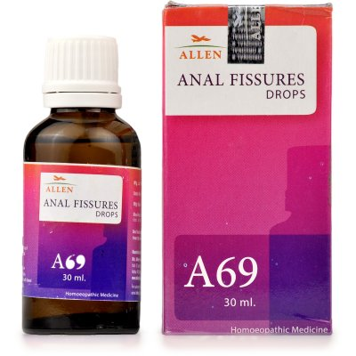 Anal Fissures medicine, Allen A69 for homeopathy fissure treatment