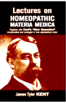 Lectures On Homeopathic Materia Medica by Kent Free Book Download