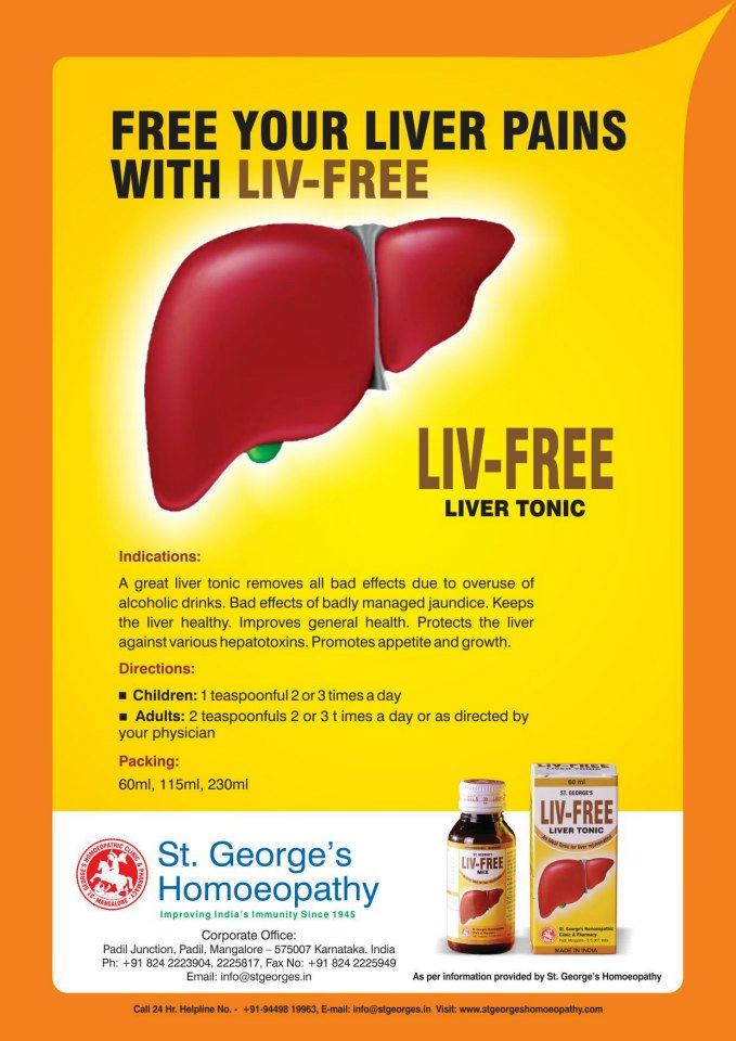st-george-homeopathy-liver-tonic-liv-free - Homeopathy Remedies