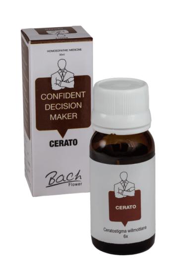 Cerato Homeo Bach Flower Remedy for Confident Decision maker