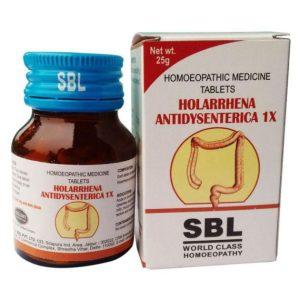 SBL Holarrhena Antidysenterica 1x Tablet for Acute or chronic diarrhea, Dysentery