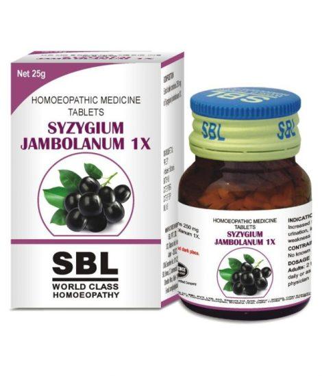 SBL Syzygium Jambolanum 1x Tablet for Blood Sugar Control (Diabetes), Diabetes Mellitus