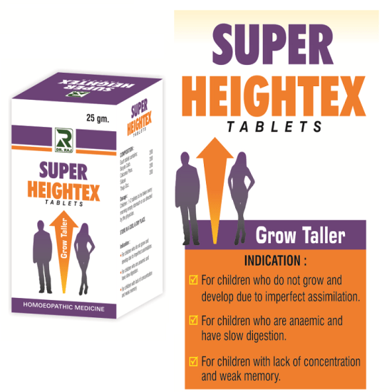 Heightex Tablets, Homeopathy Grow Taller Medicine