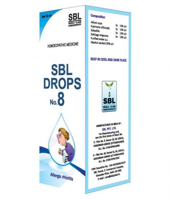 SBL Drop No 8, Homeopathy Allergic Rhinitis Treatment
