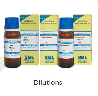 SBL homeopathy dilutions image