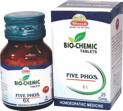 Wheezal Biochemic Five phos 6x. Homeopathic medicine