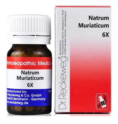 Dr.Reckeweg Biochemic Tablets Natrum Muriaticum for Constipation, Diarrhea, Cold