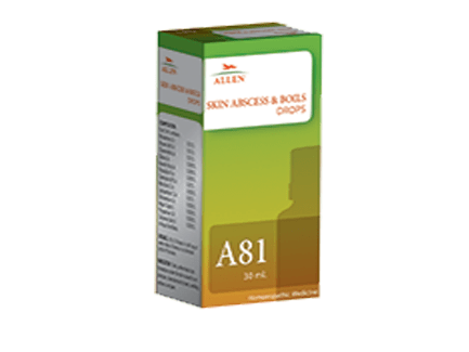 Allen A81 Skin Abscess and Boils Drops for Skin infections causing pus