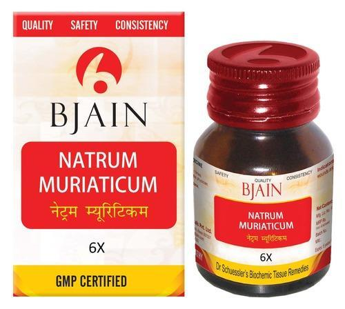 Bjain Biochemic Tablets Natrum Muriaticum 6x for Constipation, Blocked Nose