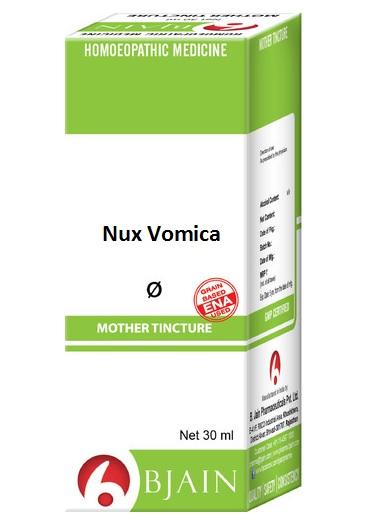 Bjain Nux Vomica Q Homeopathic Mother Tincture