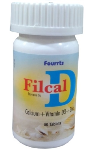 Fourrts Filcal D Calium, Vitamin D3 and Zinc Tablets