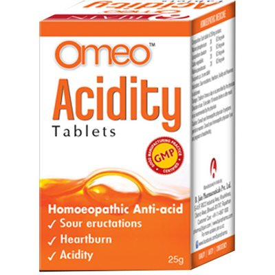 B Jain Omeo Acidity Tablets for Sour Eructation, Heartburn and Acidity