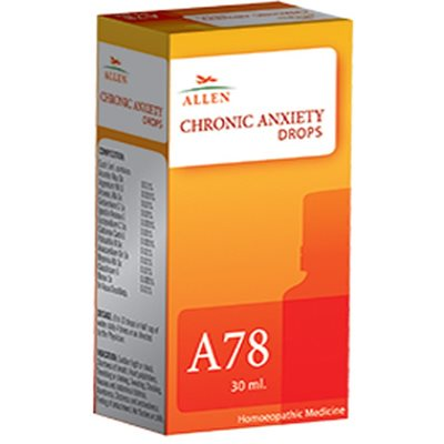 Allen A78, Chronic Anxiety Homeopathic Drops, 30ml