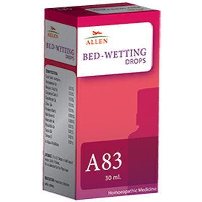 Allen A83 Drops, Homeopathic Bed Wetting Medicine, involuntary urination, nocturnal enuresis