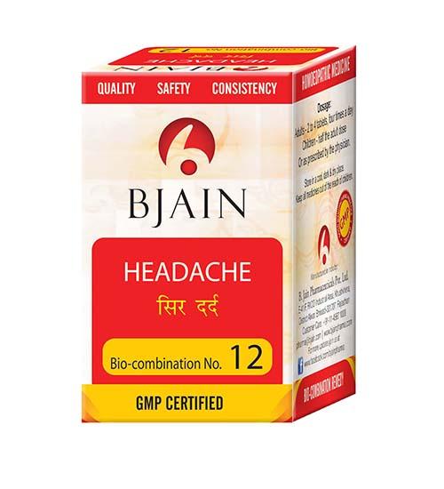 Bjain Biocombination No 12 Tablets for Headache