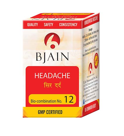 Bjain Biocombination No 12 Tablets for Headache