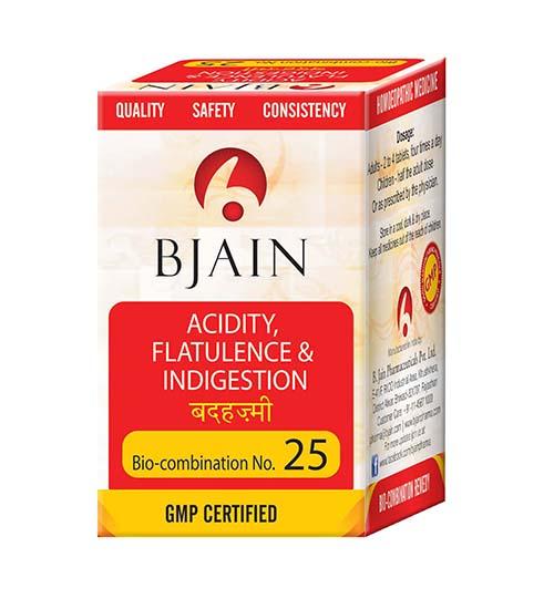 Bjain Biocombination No 25 Tablets for Acidity, Flatulence and Indigestion