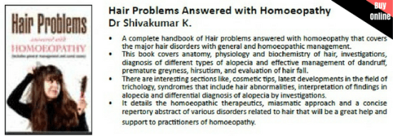 hair loss book, hair fall treatment book in homeopathy
