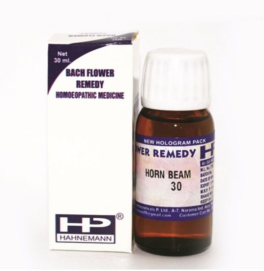 Bach Flower Remedy Horn Beam for wariness, bores, tired, needs strength, overworked, procrastination, doubting own abilities.