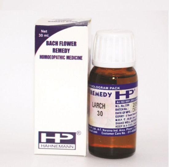 Buy Bach Flower Remedy Larch for Lack of confidence, depressed, discouraged, feeling of inferiority.