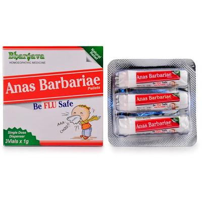 Bhargava Anas Barbariae Pills for Flu, influenza medicine homeopathy