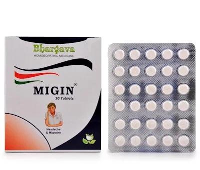 Bhargava Migin Tablets for Headache and Mirgraine
