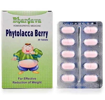 Bhargava Phytolacca Berry Tablets for Effective Reduction Of Weight