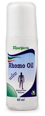 Bhargava Rhomo Oil Roll On, Homeopathy Pain Reliever with Rhus Tox, Symphytum off, Terebinthinae oleum