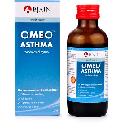 BJain Omeo Asthma Medicated Syrup, bronchodilator for wheezing, rattling & tightness of chest