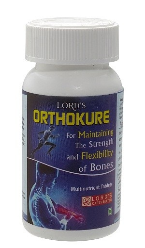 Lords Orthokure Tablet for bone health, strong bone vitamins, increases bone density, improves cartilage health