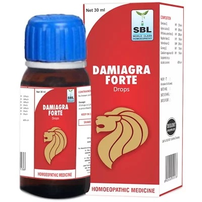 SBL Damiagra Forte Drops for Poor Erectile Power, Premature Ejaculation, libido medicine