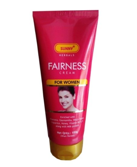 Bakson Sunny fairness cream with aloevera, chamomilla and witch hazel, enriched with Vitamins B3 & E