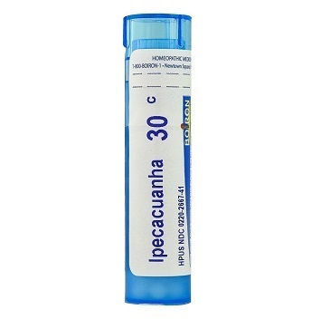 Boiron Ipecacuanha 30c, 200c Homeopathy Pills for nausea, vomiting with hyper salivation, cough