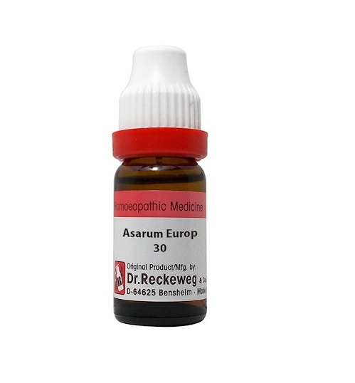 Dr Reckeweg Germany Asarum Europaeum Homeopathy Dilution 6C, 30C, 200C, 1M, 10M