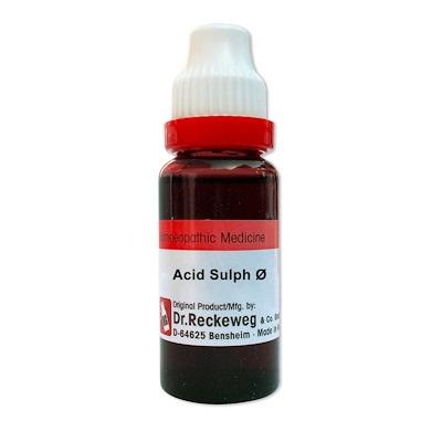 Dr.Reckeweg Acidum Sulphuricum Homeopathy Mother Tincture Q