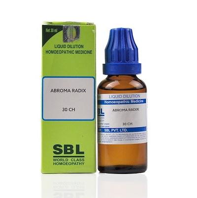 SBL Abroma Radix Homeopathy Dilution 6C, 30C, 200C, 1M, 10M, CM