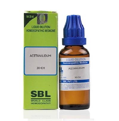 SBL Acetanilidum Dilution 6C, 30C, 200C, 1M, 10M, CM