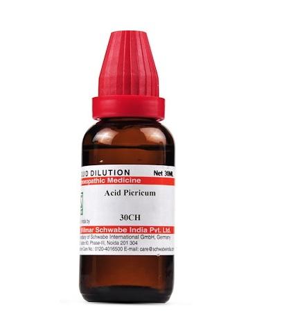 Schwabe Acidum Picricum Homeopathy Dilution 6C, 30C, 200C, 1M, 10M, CM