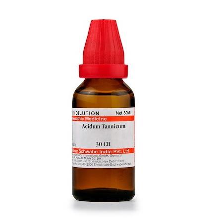 Schwabe Acidum Tannicum Homeopathy Dilution 6C, 30C, 200C, 1M, 10M, CM