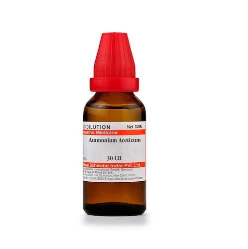 Schwabe Ammonium Aceticum Homeopathy Dilution 6C, 30C, 200C, 1M, 10M