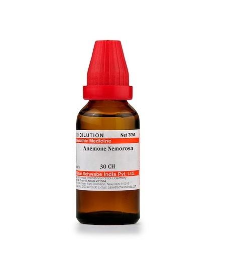 Schwabe Anemone Nemorosa Homeopathy Dilution 6C, 30C, 200C, 1M, 10M