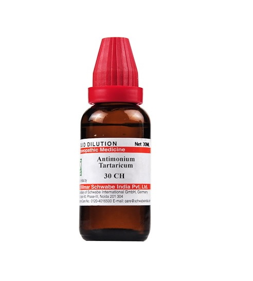 Schwabe Antimonium Tartaricum Homeopathy Dilution 6C, 30C, 200C, 1M, 10M, CM